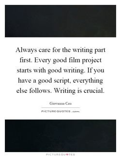 Always care for the writing part 