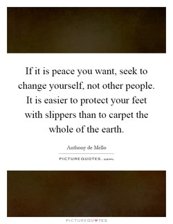 If it is peace you want, seek to 