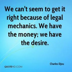 We can't seem to get it 