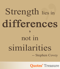 Strength lies in 
