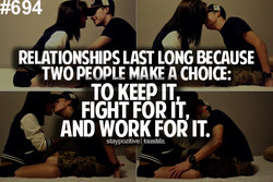 RELATIONSHIPS LAST LONG BECAUSE 