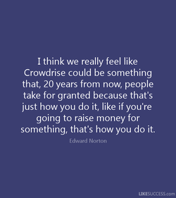 I think we really feel like 