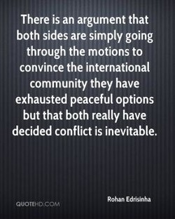 There is an argument that 