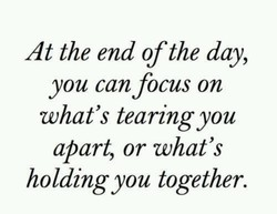 At the end of the day, 