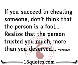 If you succeed in cheating 