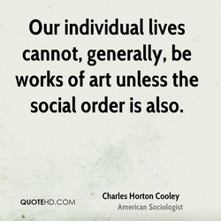 Our individual lives 