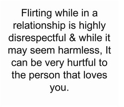 Flirting while in a 