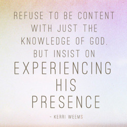 REFUSE TO BE CONTENT 