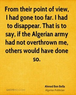 From their point of view, 