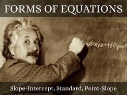 FORMS OF EQUATIONS 