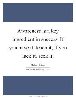 Awareness is a key 