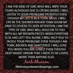 I AM THE KIND OF GIRL WHO WILL WIPE YOUR 