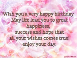 'Wish you a very happy birthday 