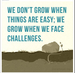 WE DON'T GROW WHEN 