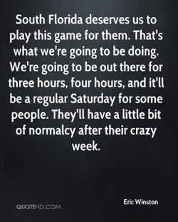 South Florida deserves us to 