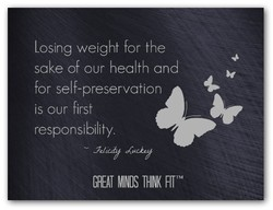 Losing weight for the 