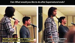 Fan: What would you like to do after Supernatural ends? 