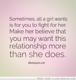 Sometimes, all a girl wants 