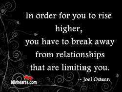 In order for you to rise 
