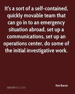 It's a sort of a self-contained, 