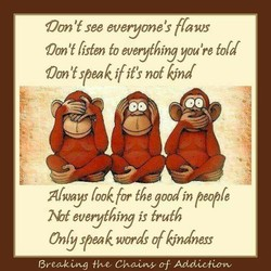 Oon 't see everyone's ffaws 