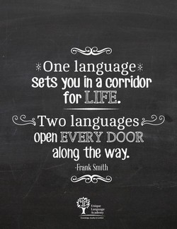 *One language* 