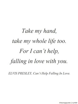 Take my hand, 