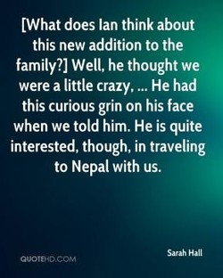 LWhat does Ian think about 