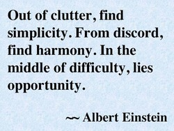 Out of clutter, find 