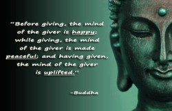 OF the giver is happy; 