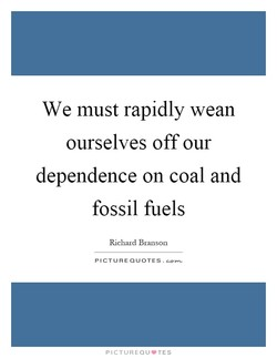 We must rapidly wean 