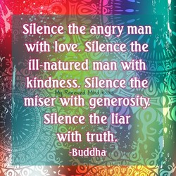 Silence the angry man 