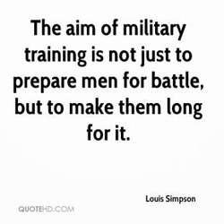 The aim of military 