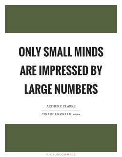 ONLY SMALL MINDS 