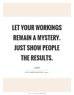 LET YOUR WORKINGS 