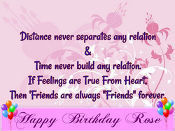 Distance never separates ang relationb 
