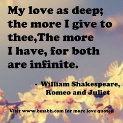 My love as deep; 