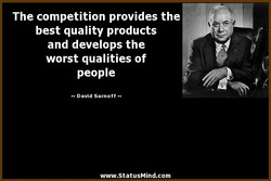 The competition provides the 