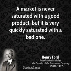 A market is never 