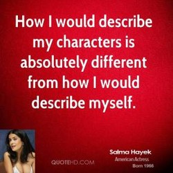 How I would describe 
