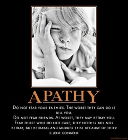 APATHY 
