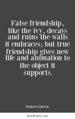 False friendship , 