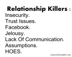 Relationship Killers : 