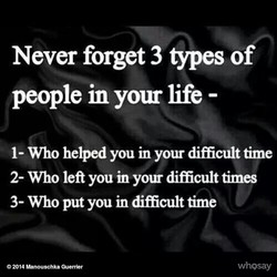 Never forget 3 types of 