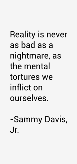 Reality is never 