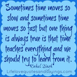 Sometimes time moves go 