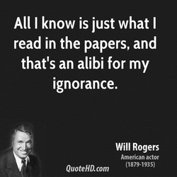 All I know is just what I 