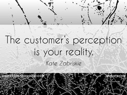 The customers perception is your reality. Kate Zabriskie fü.c$ eRatecinV