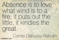 Absence is to love 