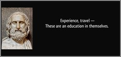 Experience, travel — 